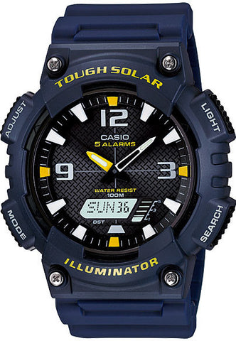 Casio AQ-S810W-2AV SOLAR POWER World Time 5 Alarms 100m Watch