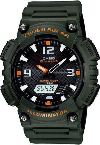 Casio AQ-S810W-3AV SOLAR POWER World Time 5 Alarms 100m Watch