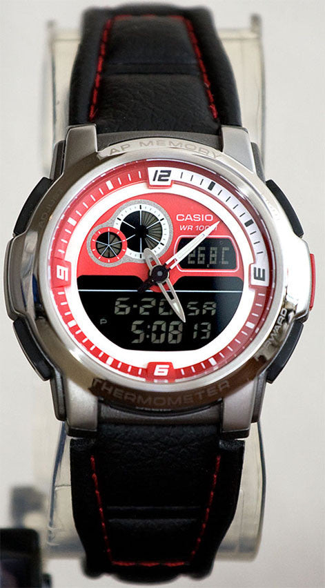 Casio AQF-102WL-4BV THERMOMETER World Time 50 Lap Memory Watch Store Display