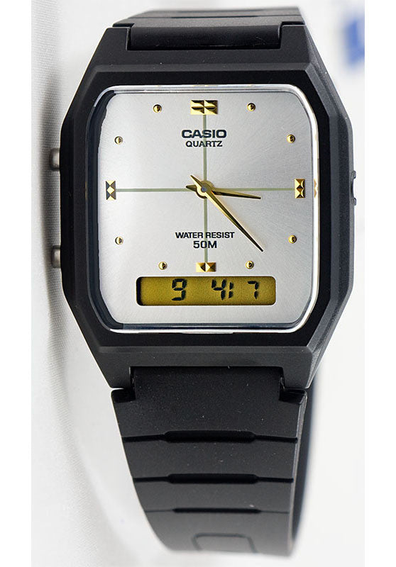 Casio AW-48HE-7AV Classic Analogue White Digital 50m Water Resistant Watch
