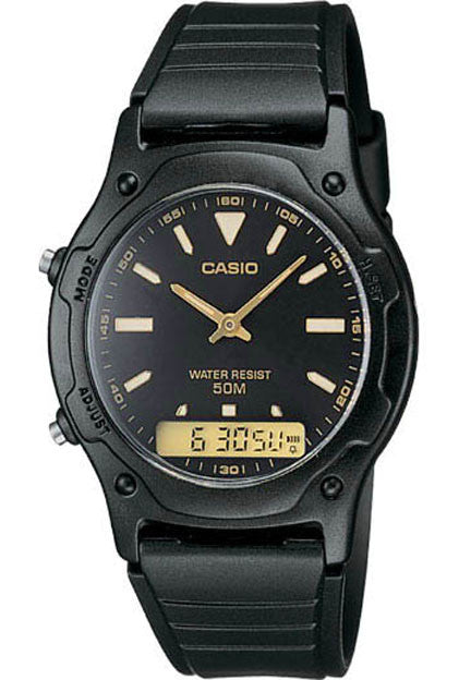 Casio AW-49HE-1AV Classic Black Analogue Digital 50m WR