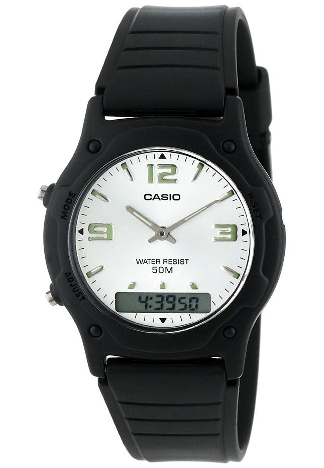 Casio AW-49HE-7AV Classic White Analogue Digital 50m WR
