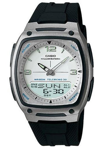 Casio AW-81-7AV 30 Page Databank Duo World Time Analogue Digital World Tm Watch
