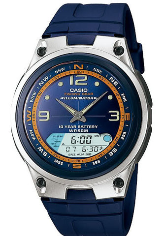 Casio AW-82-2AV Fishing Gear Moon Data 3 Alarms 10 Year Bat Watch
