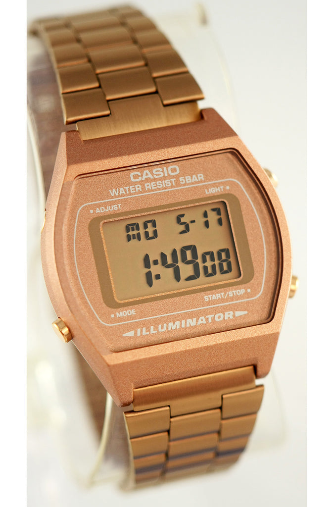 Casio Rose Gold B-640WC-1A Stainless Steel Digital Watch New