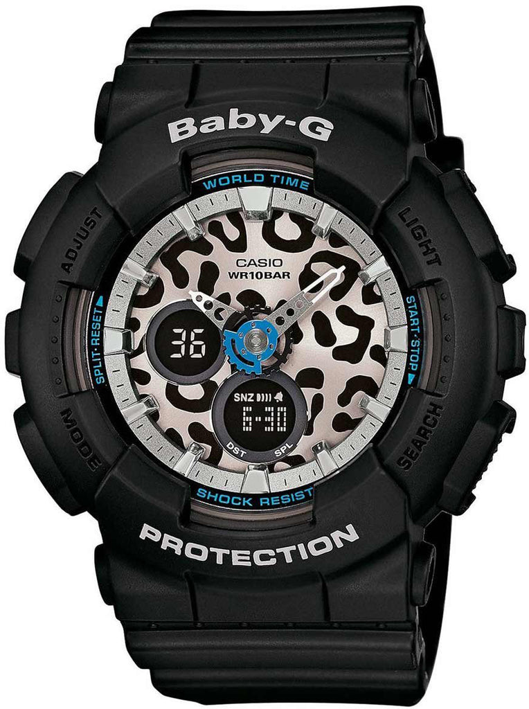 Casio BABY-G BL-120LP-1A Black Analog Digital World Time Watch 100M WR