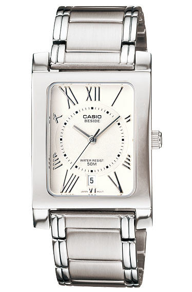 Casio BEM-100D-7A2V Beside Men's Stainless Steel Analogue Dress Watch 50M