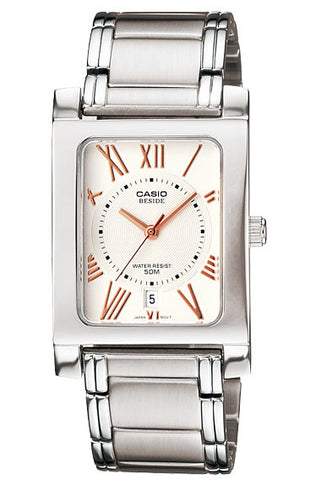 Casio BEM-100D-7A3V Beside Men's Stainless Steel Analogue Dress Watch 50M