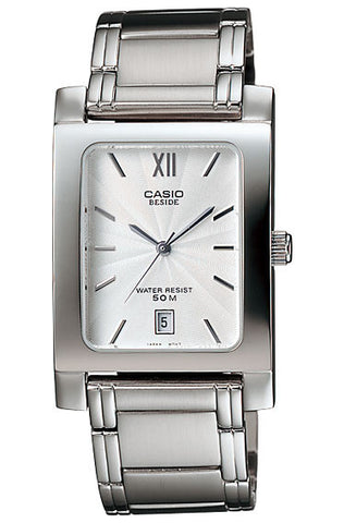 Casio BEM-100D-7AV Beside Men's Stainless Steel Analogue Dress Watch 50M