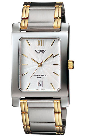 Casio BEM-100SG-7AV Beside Men's Stainless Steel 2 Toned Analogue Dress Watch 50M