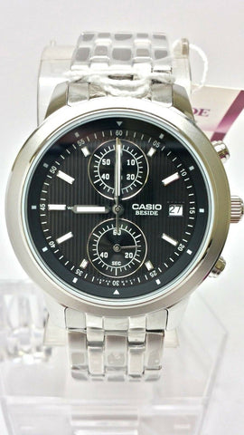 Casio Beside BEM500D-1A Men's Black Chronograph Watch Date