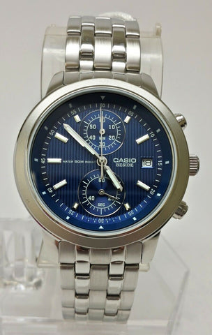 Casio Beside BEM500D-2A Men's Blue Chronograph Watch Date