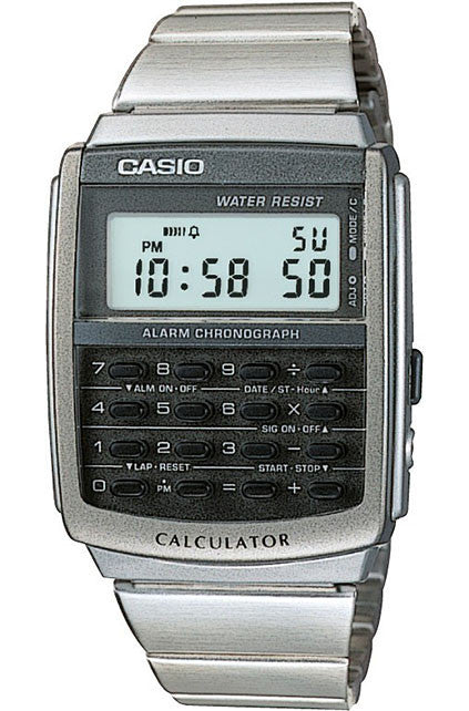 Casio CA-506-1 Calculator Stainless Steel Band Watch