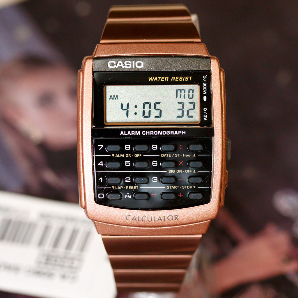 Casio CA506C-5A Rose Gold Stainless Steel Calculator Watch Vintage Style New