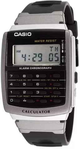 Casio Classic 8 Digit Calculator Alarm Chrono Watch CA-56-1 New Free Shipping