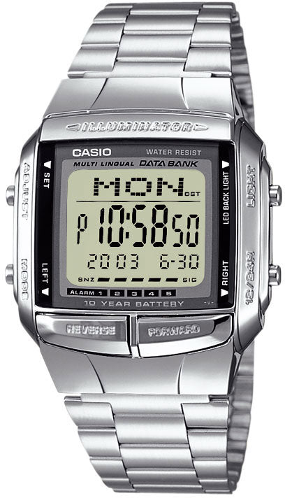 Casio DB-360-1AV Men's Watch 30 Page Databank 13 Languages 10 Year Battery New