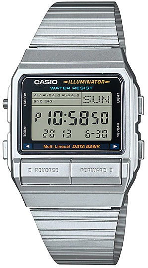 Casio DB-380-1DF Men's Watch 30 Page Databank Multi-Function Alarms Brand New