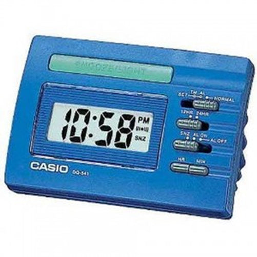Casio DQ-541-2E Blue LED Light Digital Travel Alarm Clock with Snooze NEW