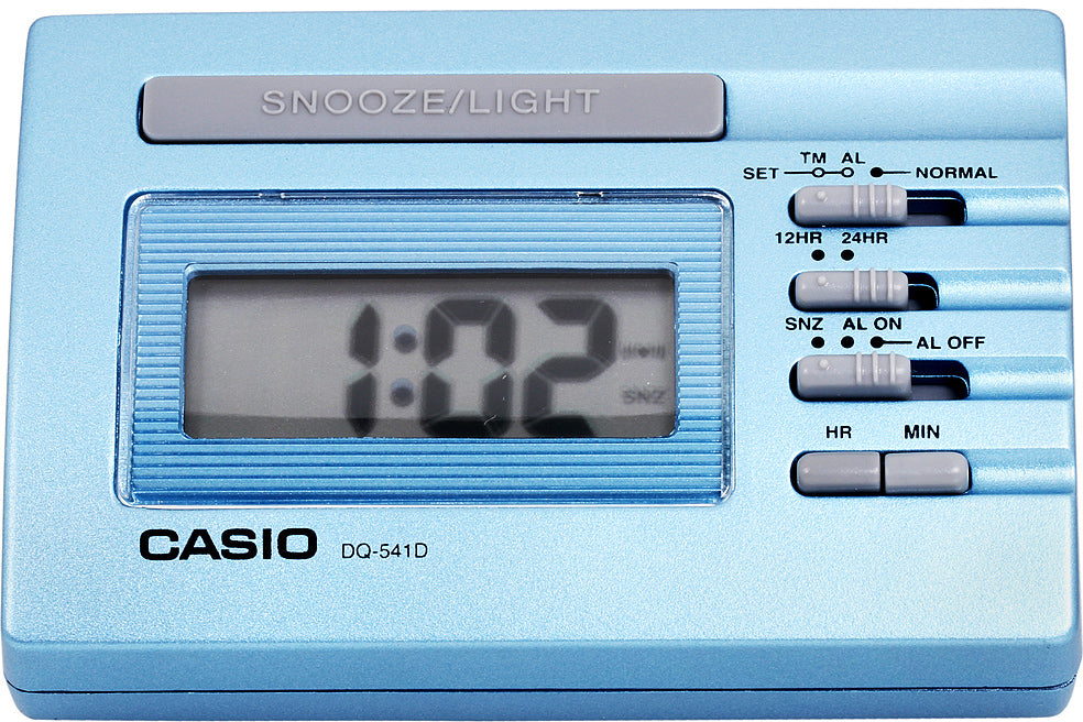 Casio DQ-541D-2R Blue LED Light Digital Travel Alarm Clock with Snooze NEW