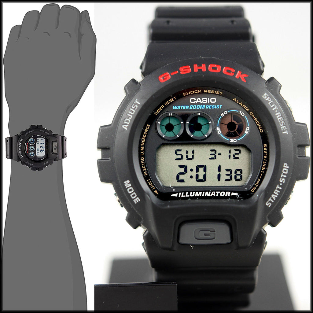 Casio DW-6900-1V G SHOCK Watch Alarms Countdown Timer 200M WR