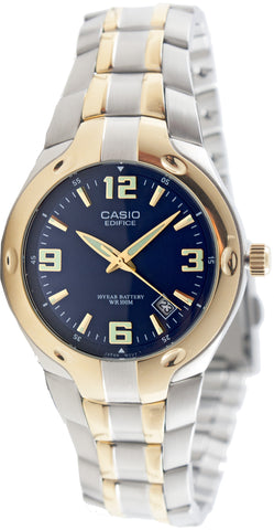 Casio EF-106SG-2AV Mens Edifice Blue Analog Watch Steel 10 Year Battery 100M WR
