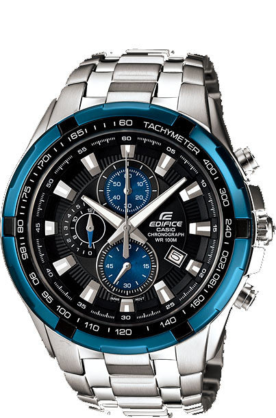 Casio Edifice EF-539D-1A2V Men's Stainless Steel 100M Chronograph Watch Tachymeter