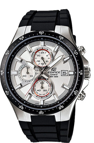 Casio EFR-519-7AV Edifice Men's White Resin 100M WR Watch Stopwatch