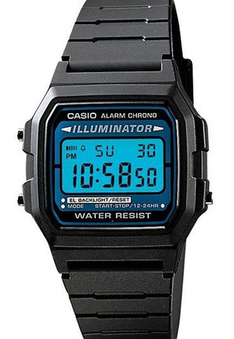 Casio F-105W-1 Digital Retro Illuminator Watch