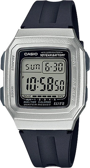 Casio F-201WAM-7AV Digital Illuminator Watch 2 Time Zones 10 Year Battery