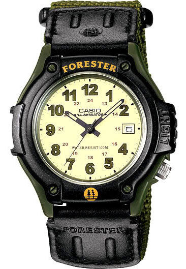 Casio FT-500WVB-3BV Analogue FORESTER Watch with Light Cloth Band