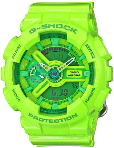 Casio GMA-S110CC-3A Women's Green G-SHOCK Hyper Colors Ana-Digital Watch 200M New