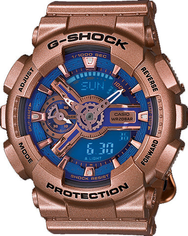 Casio GMA-S110GD-2A Women's S-Series G-SHOCK Watch Ana-Digital Gold 200M New