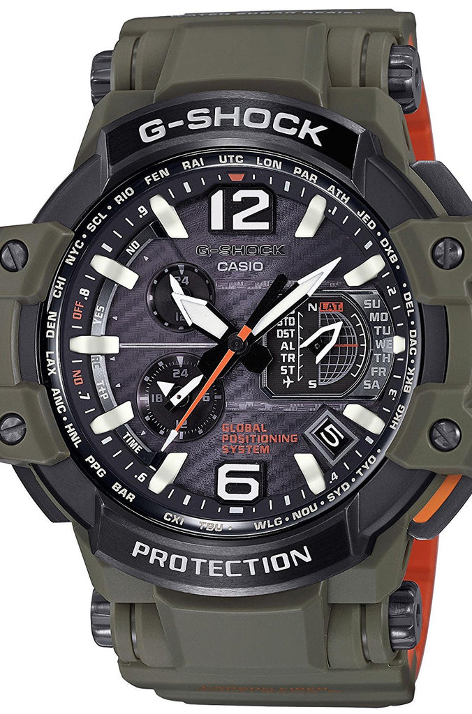 Casio G-Shock GPW-1000KH-3A Sky Cockpit GPS Watch Hybrid Wave Ceptor Black Gold