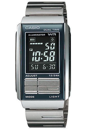 Casio LA-201W-1B Ladies Steel FUTURIST LCD Watch