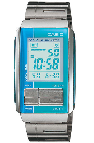 Casio LA-201W-2A2 Ladies Steel FUTURIST LCD Watch