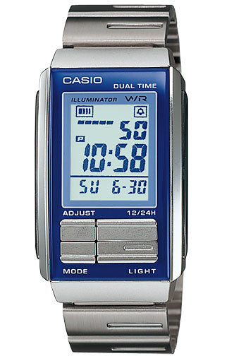 Casio LA-201W-2A Ladies Steel FUTURIST LCD Watch