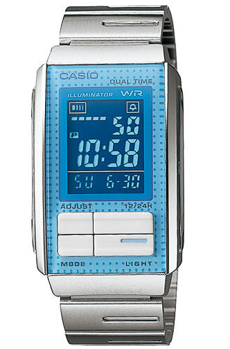 Casio LA-201W-2B Ladies Steel FUTURIST LCD Watch