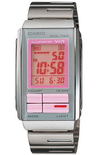 Casio LA-201W-4A2 Ladies Steel FUTURIST LCD Watch