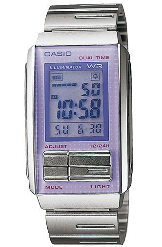Casio LA-201W-6A Ladies Steel FUTURIST LCD Watch