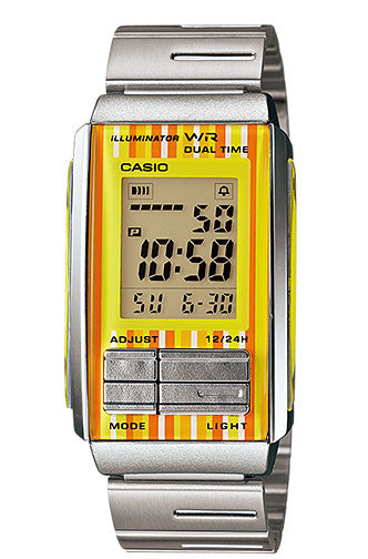 Casio LA-201W-9C Ladies Steel FUTURIST LCD Watch