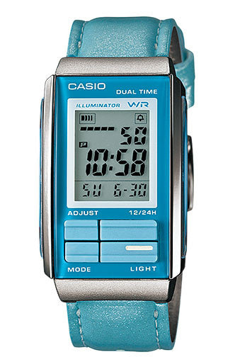Casio LA-201WBL-2A Women's Futurist Leather Band Watch