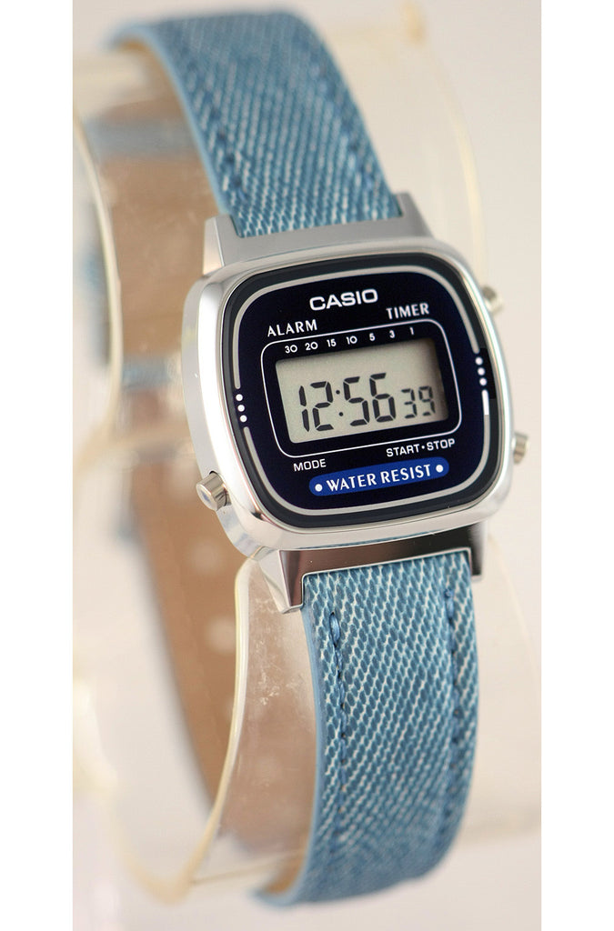40e02e90e502 Casio LA-670WL-2A2 Ladies Blue Fabric Band Watch Digital Classic ...