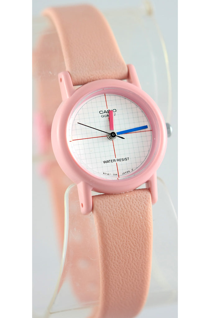 Casio LQ-11W-4 Ladies Vintage 1990s Analog Watch Pink Classic Tech Design New