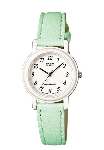 Casio LQ-139L-3B Elegant Ladies Green Analogue Leather Band Watch