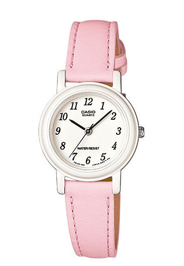 Casio LQ-139L-4B1 Elegant Ladies Pink Analogue Leather Band Watch