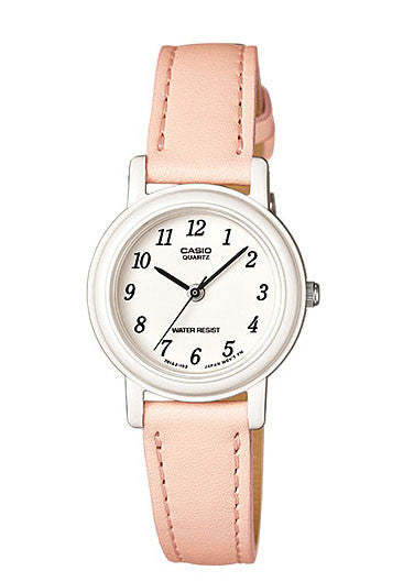 Casio LQ-139L-4B2 Elegant Ladies Peach Analogue Leather Band Watch