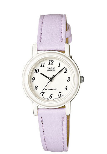 Casio LQ-139L-6B Elegant Ladies Purple Analogue Leather Band Watch