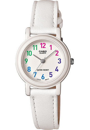 Casio LQ-139L-7B Elegant Ladies White Analogue Leather Band Watch
