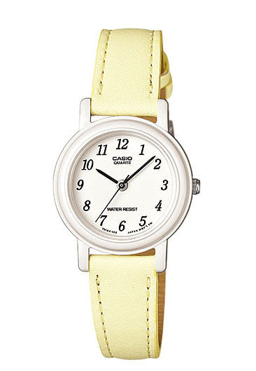 Casio LQ-139L-9B Elegant Ladies Yellow Analogue Leather Band Watch
