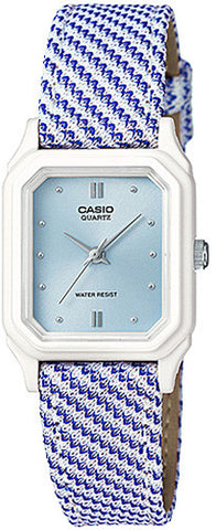 Casio Classic Ladies Analog Blue Design Cloth Band Watch LQ-142LB-2A2 New 2015